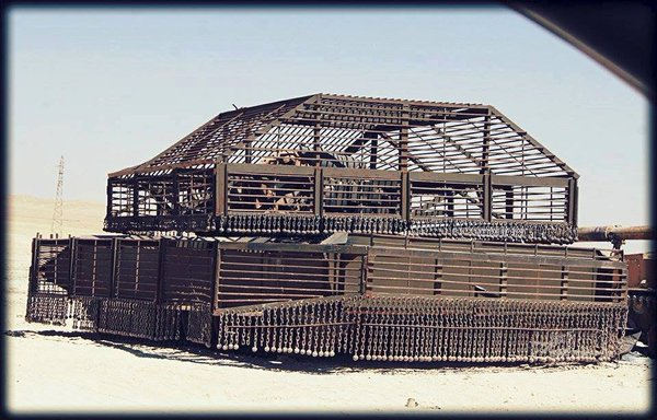 Another example of a T-72 Mahmia with total cage armor protection. This one appears to be much large than other examples, and whilst it may provide better protection, it would, no doubt, make the vehicle much heavier, unwieldy, and it would possibly take up too many resources per tank.