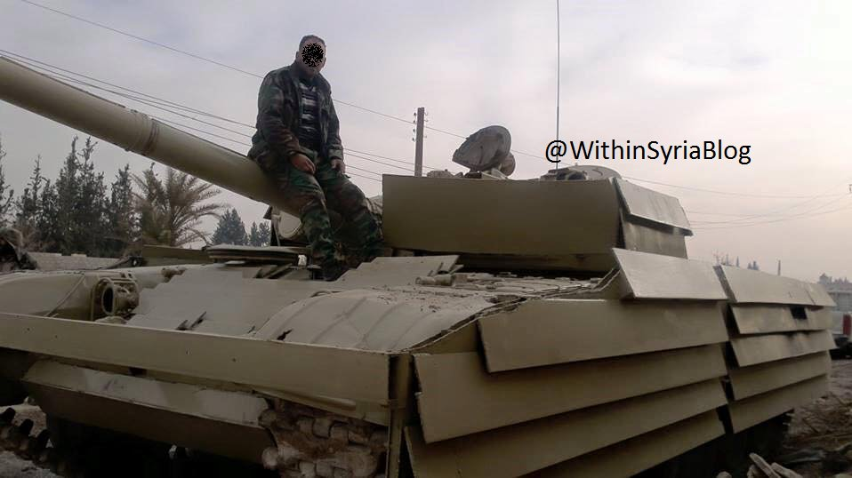 T-72AV Shafrah closeup, with its side skirts and original turret layout