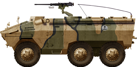 Late version EE-11 APC with the Brazilian Marines