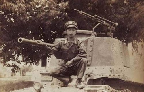 A Kuomintang Chi-Ha Shinhoto. The white sun emblem appears to have been hastily painted over the original Japanese camouflage scheme.