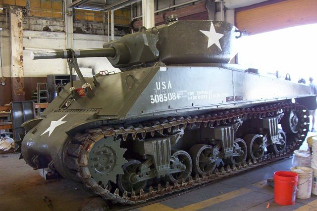 Cobra King on completion of restoration with the original 75mm gun returned - Picture Don Moriarty