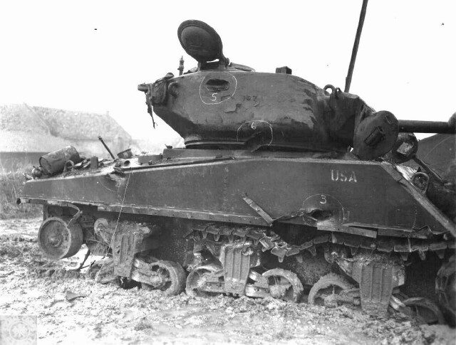 Another Jumbo of 743rd Tank Battalion also knocked out in the same operation.