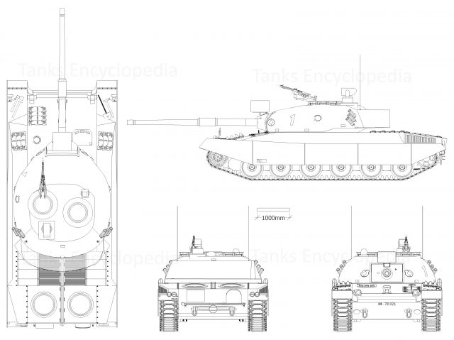Panzer 74 with the Variante A turret and the Variante H hull