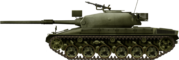 The Panzer 74 with the Variante A turret and the Variante H hull