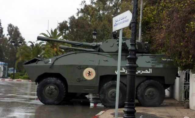 Tunisian EE-11 Urutu fire support variant.
