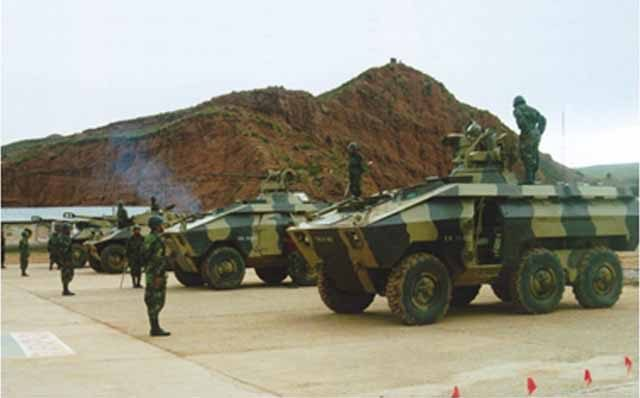 Bolivian EE-11 IFV with a 20 mm (0.79 in) autocannonv