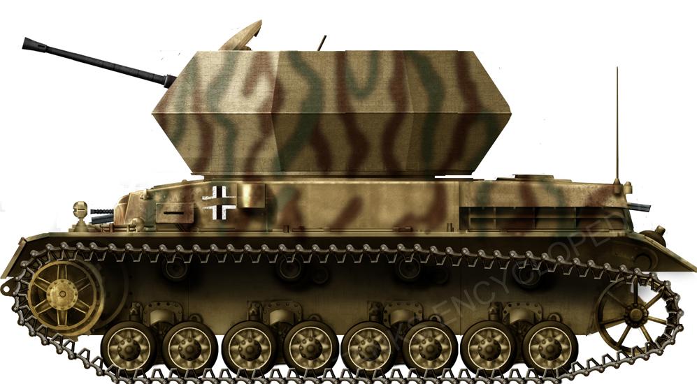Flakpanzerkampfwagen  IV 3.7 cm Flak 43 'Ostwind'