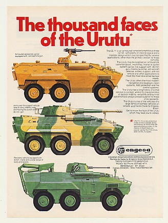 Advertising flyer for the Urutu from Engesa