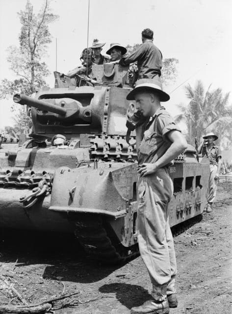 Corporal E.G.Molyneaux netting a wireless