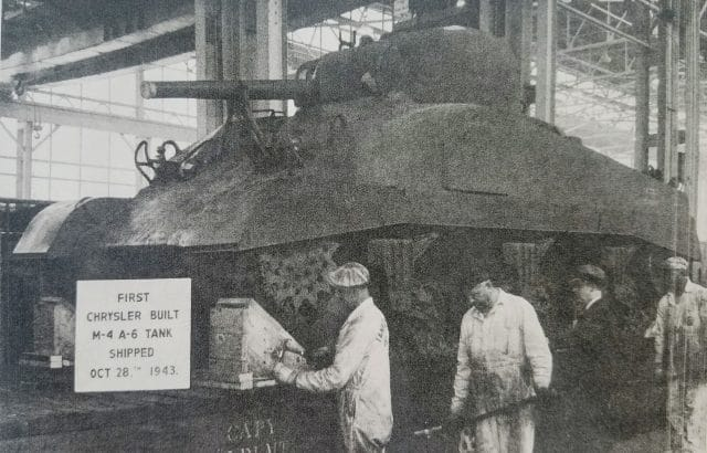 First production medium tank M4A6 at Detroit Arsenal, registration number 3099687.