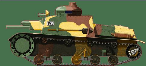 Illustration of the Škoda Š-I-D or T-32 tankette by Jarosław Janas