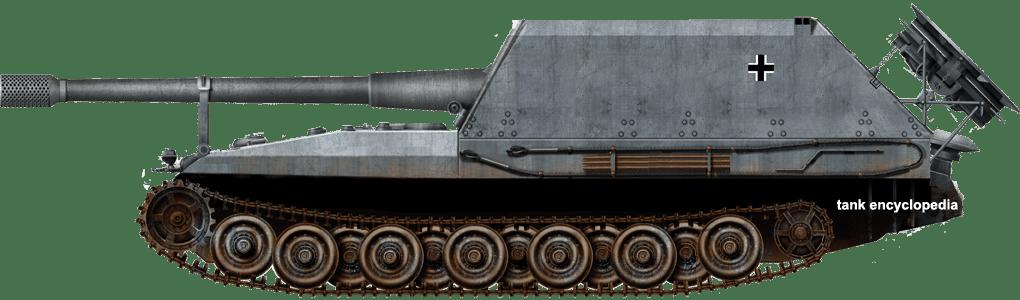 Geschützwagen Tiger für 17 cm Kanone 72 (Sf.) Grille with the 17 cm gun