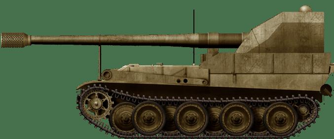 Waffenträger 12.8 cm K 43 Selbstfahrlafette Krupp II/Grille 12