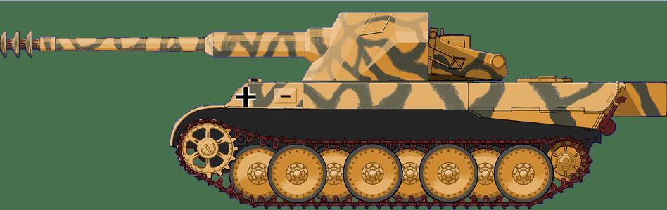 Waffentrager 12.8 cm Skorpion mit Panther Bauteilen