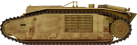 Illustration of the Semovente B1 bis by David Bocquelet