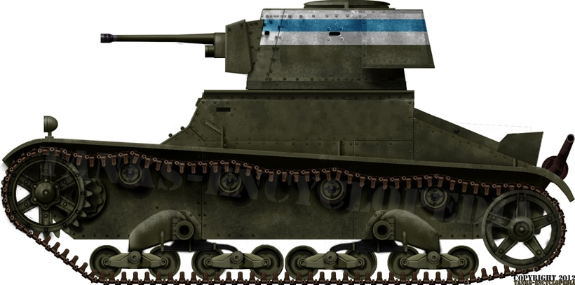 Vickers 6 ton in Finnish Service
