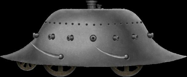 Cowen's 'Locomotive Land Battery' or 'Devastator'