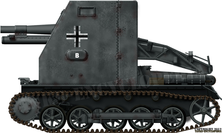 """15cm sIG 33 (Sf) auf Panzerkampfwagen I Ausf. B """"Bison"""""""