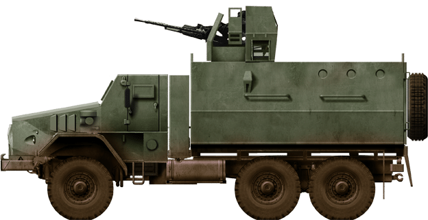 Ural 4320 converted as a FAR armored truck - Angola conflict