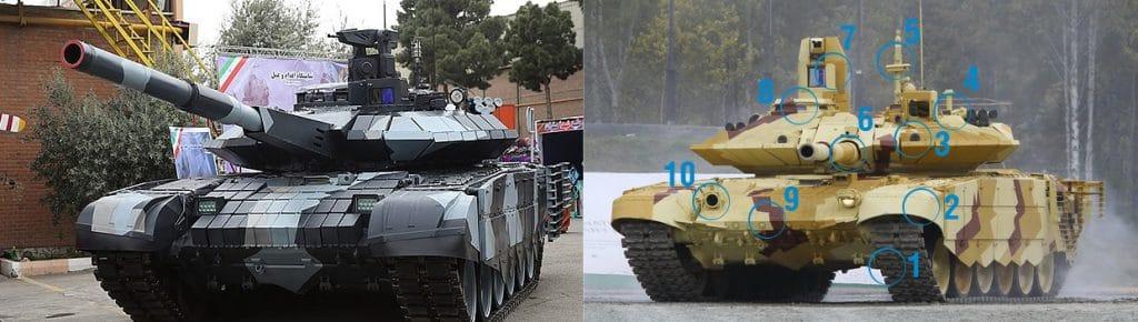 comparison Karrar - T90MS