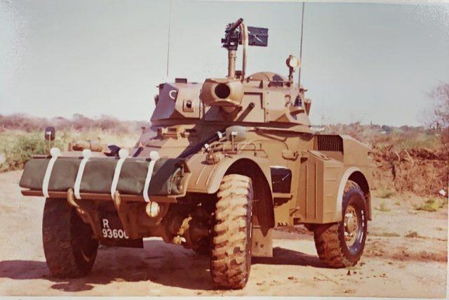 Eland 90 Mk6 outside Grootfontein 1977