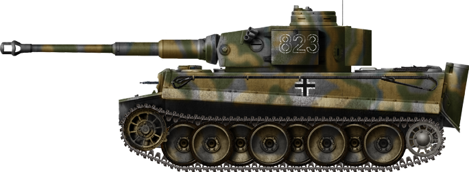 Tiger Ausf.H/E Frühes Modell from another unit of the SS Panzerdivision Das Reich