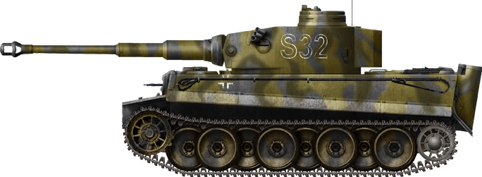 Tiger Ausf.H/E Frühes Modell (early production), 8th Kompanie SS Panzerdivision Ds Reich