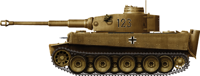 Tiger Ausf.E(T), first batch sent to Tunisia, sPz.Abt. 501