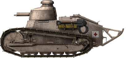 Finnish Renault FT, in the light brown livery