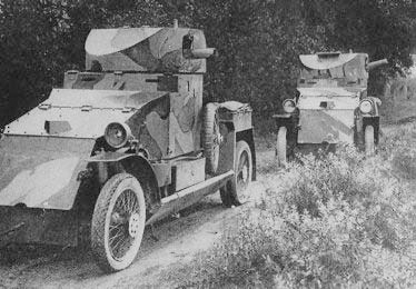 Camouflaged Lanchesters in patrol