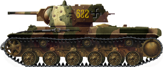 The KV-1 was a 50-ton monster that had became operational just before the Continuation War.
