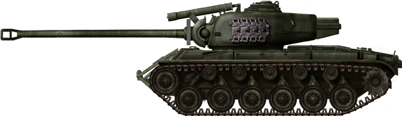 The T26E4 Pilot Prototype No.1 Super Pershing, without the ears - Illustration by David Bocquelet.