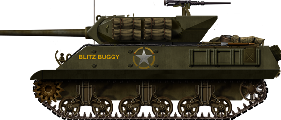 M10 Blitz Buggy from the 654th Tank Destroyer Battalion in Italy, October 1943.