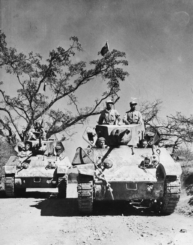 Chinese M3A3 Stuart on the road of Ledo, 1944.