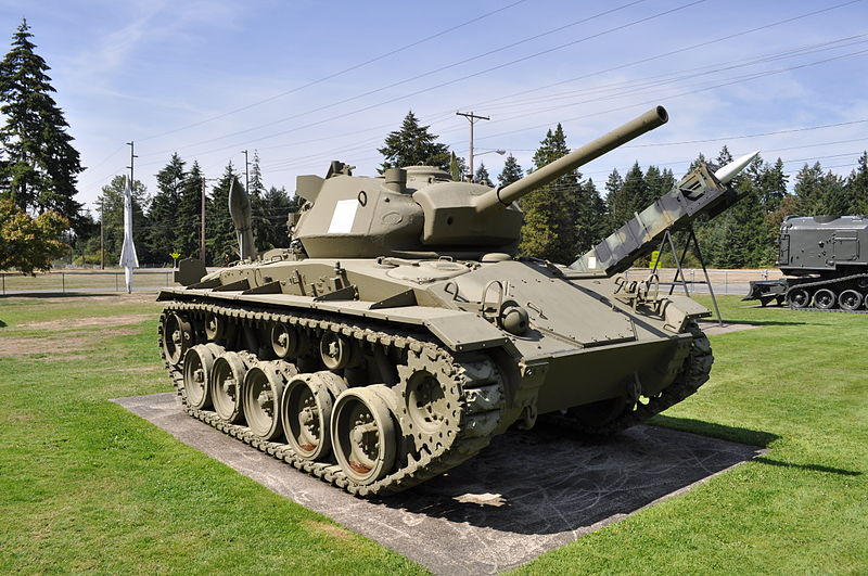 US M24 Chaffee light tank on display at Fort Lewis.