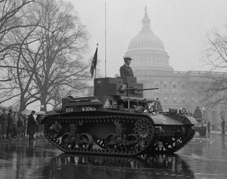 M2A3 light tank at the Army Day Parade in 1939.