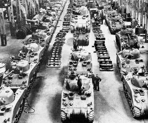 M4A1 at Chrysler factory plant