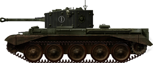 Cromwell with rubber stripes on the turret