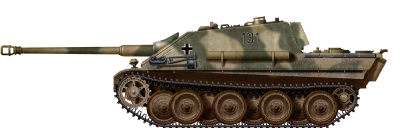 Jagdpanther during the Ardennes offensive