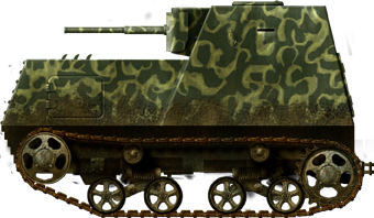 A camouflaged KhTZ-16 (probably in a rush, with a large paintbrush) as shown in photos