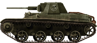 T-60 model 1941 of an unknown unit, 1942. The easiest way to recognize these are their spoked road-wheels.