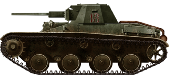 T-60 model 1942 (unknown unit), in late 1942. Due to increased armor, these were given stamped road-wheels.