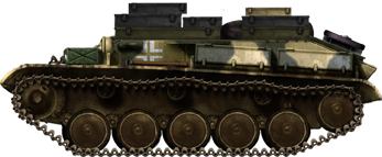Turretless Beutepanzer T-70 (captured T-70) used as supply carrier.
