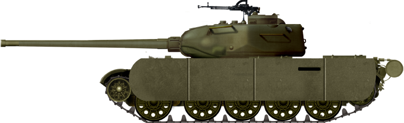 The T-44/100 prototype (February 1945). It was manufactured to carry the new gun because the T-34 transmission could not endure the recoil.