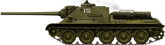 The SU-85M was the most proficient derivative of the T-34. It used the same chassis but was equipped with the high velocity 85 mm (3.35 in) ZiS-S-53.