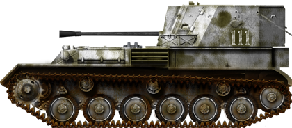 Fictional livery of a ZSU-37 in winter paint, winter 1945.