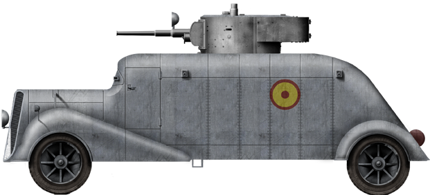 The field conversion T-26 turret-armed MC-36 in Nationalist service